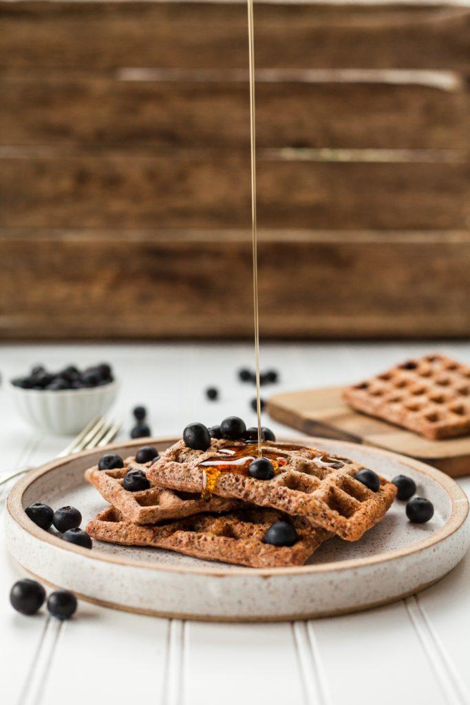 waffles, diverse farine, diversi gusti